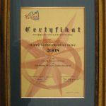 Certyfikat Polskiej Organizacji Turystycznej dla Najlepszego Produktu Turystycznego Polski 2008 roku za Chełmno - miasto zakochanych