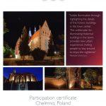Certyfikat udziału Chełmna w międzynarodowym konkursie city.people.light award 2014 - Miasto.Ludzie.Światło 2014
