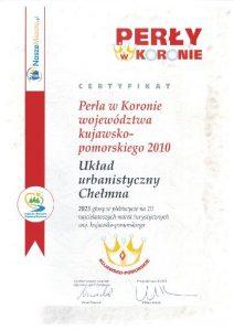 """Certyfikaty """"Perły w Koronie 2010"""""""