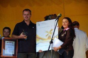 """Certyfikat  """"Najlepszy Produkt Turystyczny Regionu"""" 2008 roku za Chełmno - miasto zakochanych"""