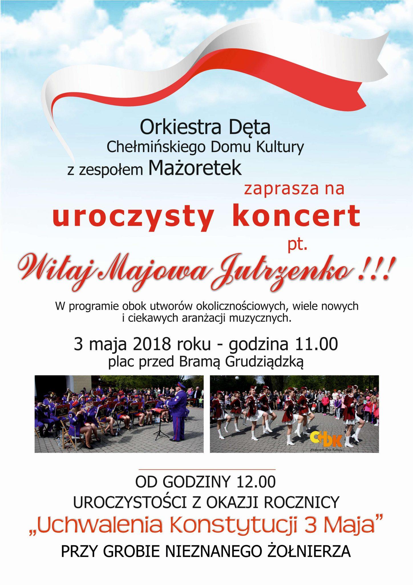 Koncert Orkiestry Dętej i Mażoretek - 3 maja 2018