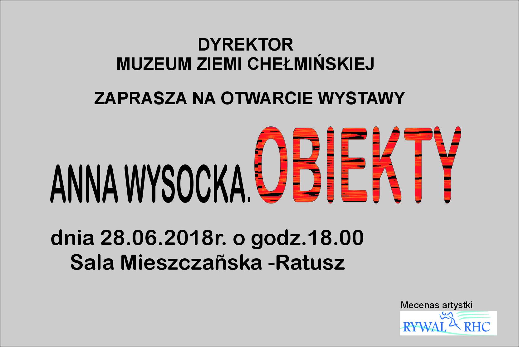 Anna Wysocka Wystawa