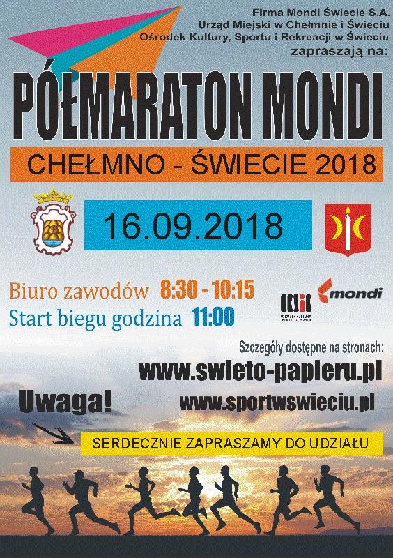 Półmaraton Mondi Chełmno – Świecie 16 września 2018
