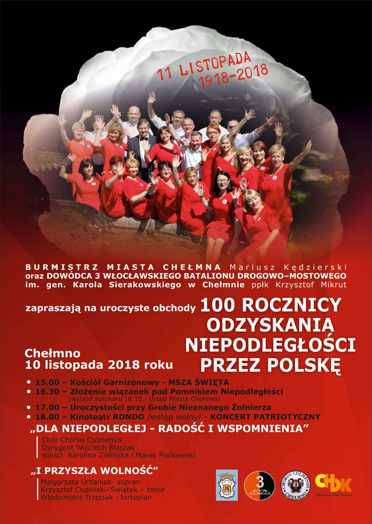 cb8f7f116d Uroczyste obchody Narodowego Święta Niepodległości 100 – lecie odzyskania  przez Polskę Niepodległości Miejsce i czas