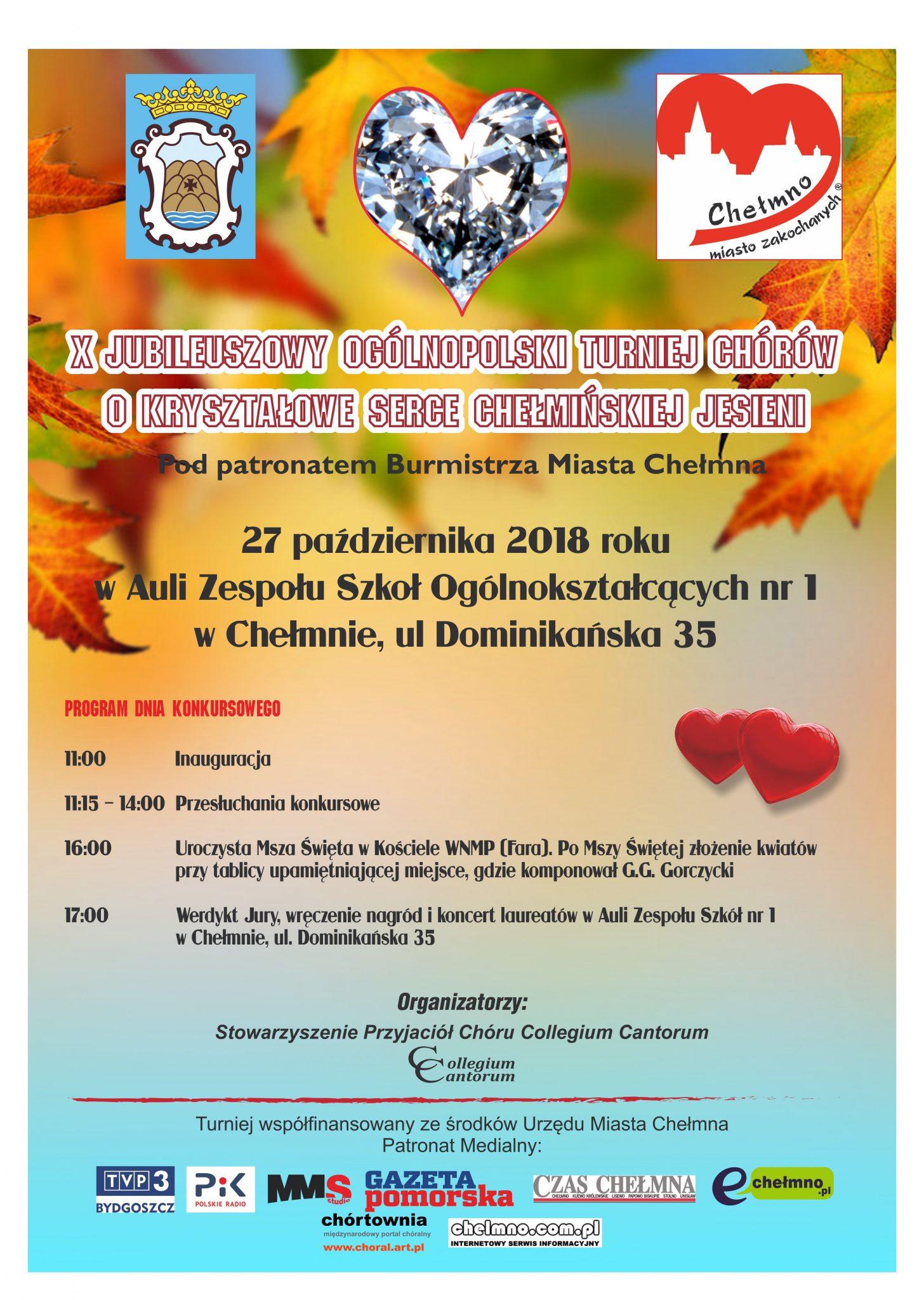 X Jubileuszowy Ogólnopolski Turniej Chórów o Kryształowe Serce Chełmińskiej Jesieni
