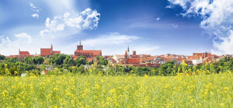 Chełmno, panorama miasta od południa, fot. Elżbieta Pawelec