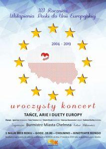 koncert z okazji XV ROCZNICY WSTĄPIENIA POLSKI DO UNII EUROPEJSKIEJ
