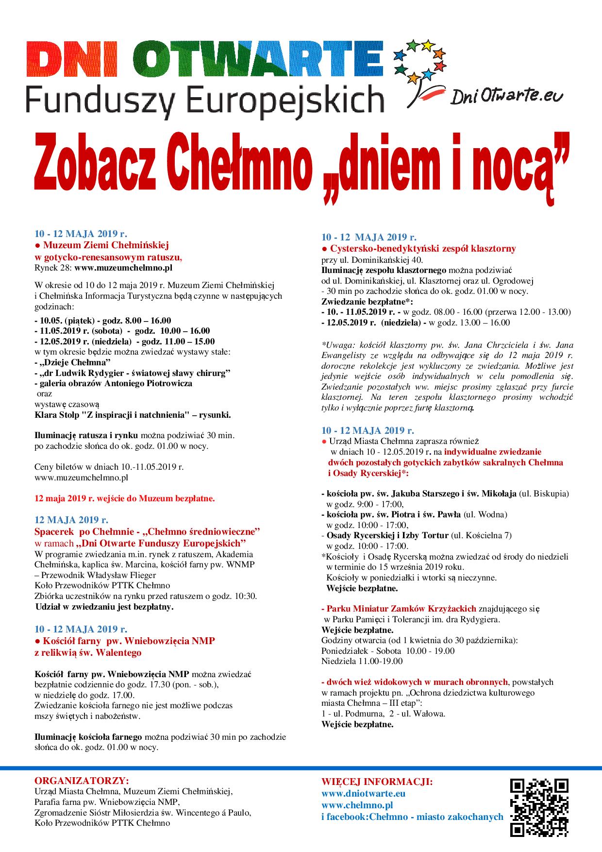 Zobacz Chelmno Dniem I Noca Dofe 10 12 05 2019 Plakat