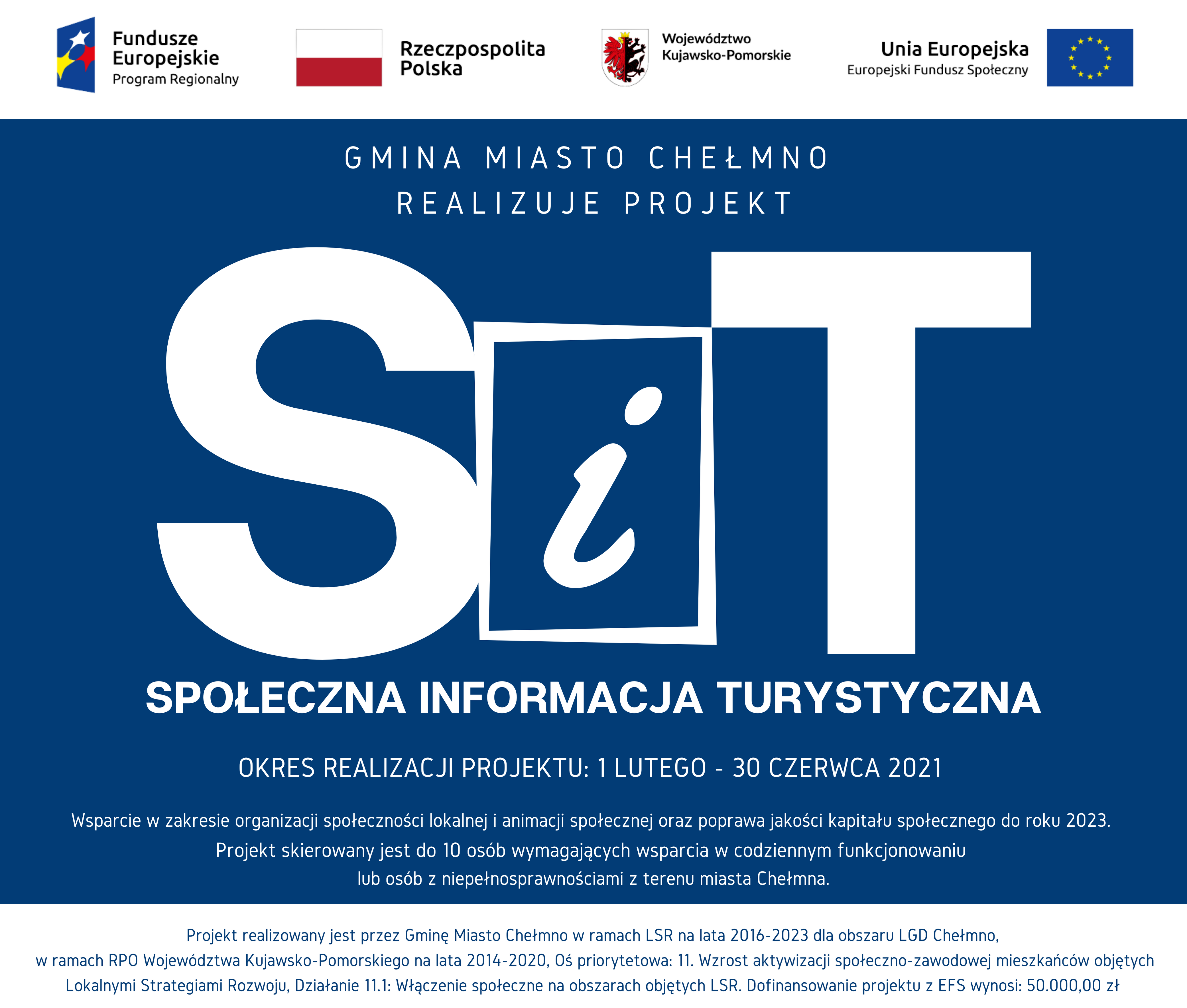 Baner projektu pt. Społeczna Informacja Turystyczna